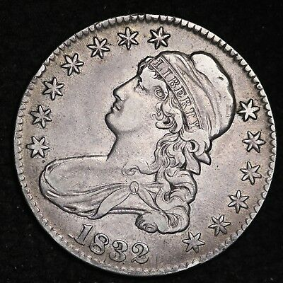 1832 Capped Bust Half Dollar CHOICE XF FREE SHIPPING E363 ABP