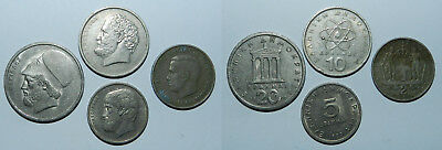 GREECE : 4 OLD COINS - 20th Century