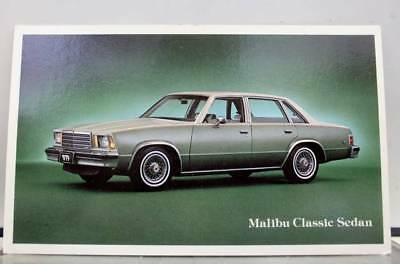 Car Automobile Malibu Classic Sedan Postcard Old Vintage Card View Standard Post