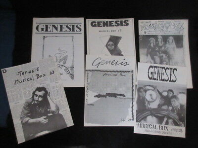 Musical Box Japan Genesis Fanzine Book Lot 1978-1982 Peter Gabriel Phil Collins