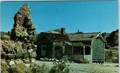 RHYOLITE , NV Nevada   VIEW of BOTTLE HOUSE Ghost Town  c1950s Frasher Postcard