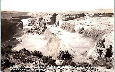 RPPC  FLAGSTAFF, AZ Arizona   GRAND FALLS Little COLORADO River  c1940s Postcard