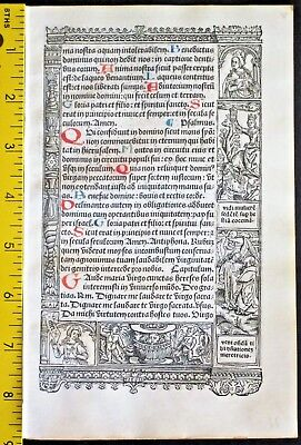 Lg.printed medieval BoH,deco.Border Scenes,Apocalypse monsters,S.Vostre,c.1512