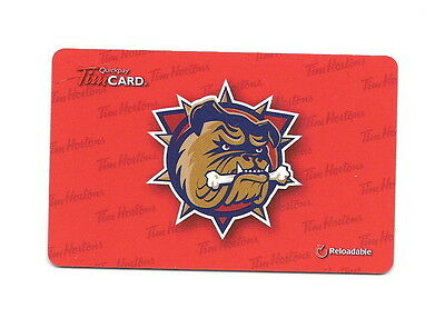 AHL Hamilton Bulldogs 2014 Tim Hortons Gift Card CHL $0 Value FD42449