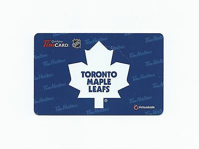 NHL Toronto Maple Leafs 2013 Tim Hortons Gift Card $0 Value FD38779