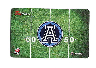 CFL Toronto Argonauts 2014 Tim Hortons Gift Card $0 Value FD41462