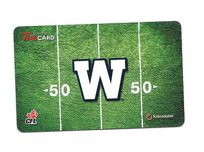 CFL Winnipeg Blue Bombers 2014 Tim Hortons Gift Card $0 Value FD41761