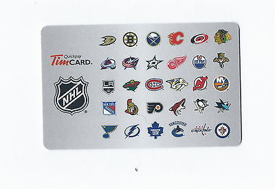 NHL 2013 All Team Tim Hortons Gift Card $0 Value FD38790