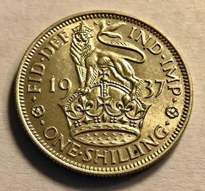 2474d03f GREAT BRITAIN - George VI - Silver Shilling - 1937 - Brilliant Uncirculated
