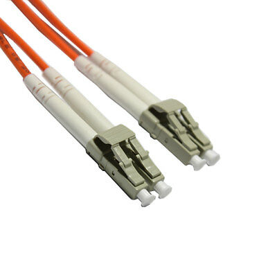 LC to LC 50/125 Multimode 3.0mm Fibre Optic Patch Lead Cable 1m