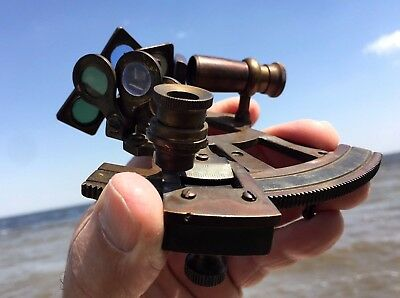 "c 1910 Troughton & Simms LONDON 191 Nautical HANDY Miniature 5"" Replica SEXTANT"