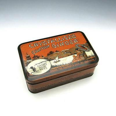 Antique Charles S. Cash Cash's Nuts Chinese Crystallized Canton Ginger Tin Box