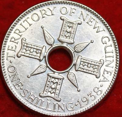 1938 New Guinea One Shilling Silver Foreign Coin