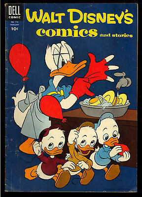 Walt Disney's Comics & Stories #173, 175-176 Barks GROUP (3) 1955 VG- to VG+
