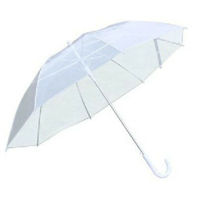 Transparent Clear Rain Umbrella Parasol Fashion PVC Umbrella Dome Wedding Decor