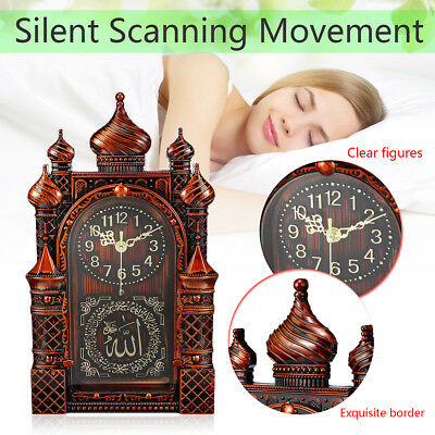 Retro Wall Hanging Clock Watch Decoration Islamic Masjid Mosque Silent Clock UK*