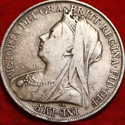 1899 Great Britain Crown Silver Foreign Coin