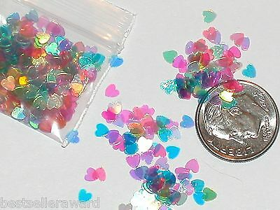1 bag magical Fairy Pixie Tinkerbell Glitter Rainbow Heart Mix for bottle