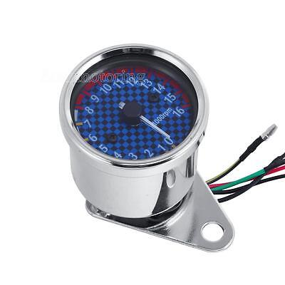 New LED Backlight Universal Tachometer Speedometer Tacho Gauge for Motorcycle
