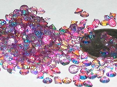 30pc Floating tiny little Crystal rhinestone gems glitter 3mm AB Light Purple NW