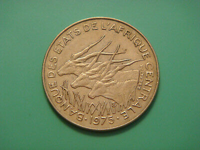 Central African States, 10 Francs, 1975, Giant Eland, Animals