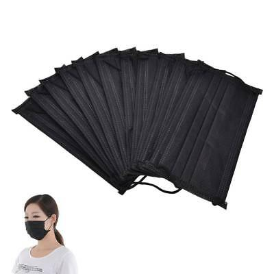 Lot of 50 Disposable Mouth Face Dental Mask Medical Surgical Dust Respirator Blk