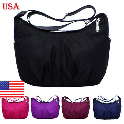US Women Casual Waterproof Sling Shoulder Bag Large Capacity Crossbody Bag