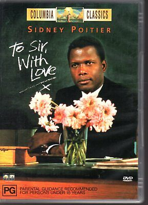 TO SIR WITH LOVE - DVD R4 (2000) Sydney Poitier LIKE NEW - FREE POST