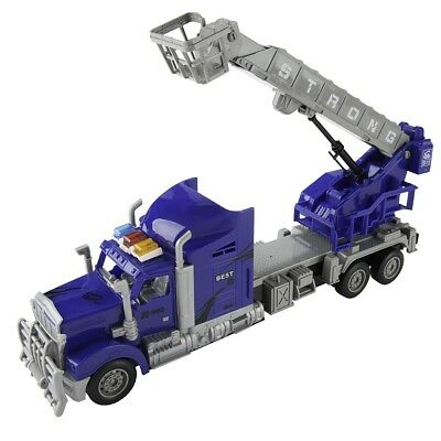 1/15 Scale Remote Control RC Crane Truck W/Rescue Basket Set Kids Toys Car Blue