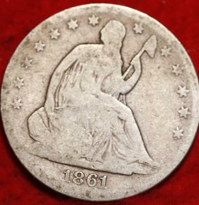 1861-O New Orleans Mint Silver Seated Liberty Half Dollar