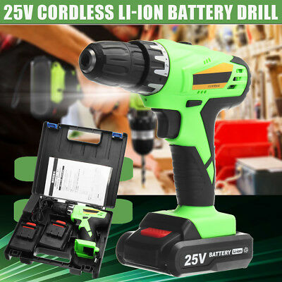 100-240V Rechargeable Cordless Drill 25V Battery Electric Hammer Screwdriver