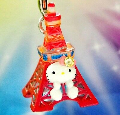 Hello Kitty X Tokyo Tower Swarovski Elements Crystals Japan Charm Pendant