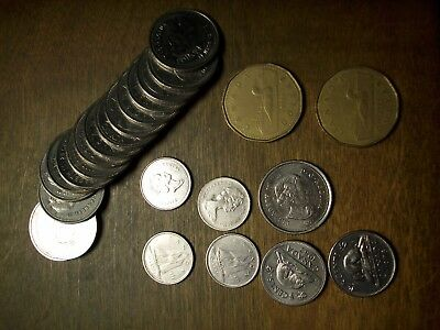 CANADIAN COINAGE Assorted coins Pennies to Dollars