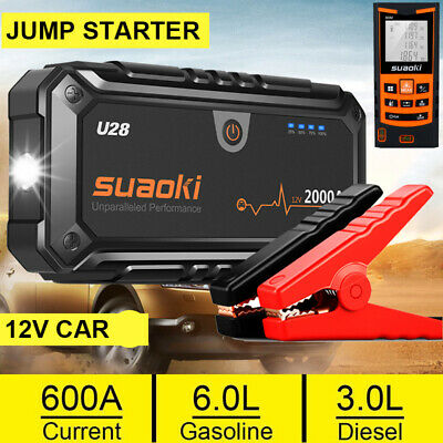 Suaoki Jump Starter Car Vehicle Rescue Battery Booster Emergency Power Charger