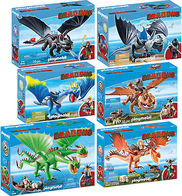 PLAYMOBIL® Dragons 6er Set 9246 9247 9248 9458 9459 9460 Hicks Ohnezahn Raffnuss