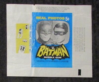 1966 BATMAN Real Photos TV Show Trading Cards Wrapper VG/FN 5.0