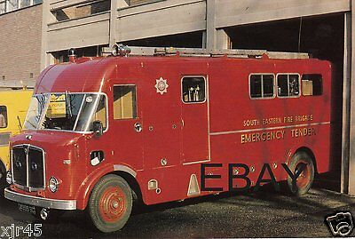 South Eastern Fire Brigade 1963 AEC/Merryweather ET Postcard