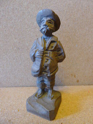 """Old Black Forest carved wooden Gentleman ..5"""" tall.  VGC.."""