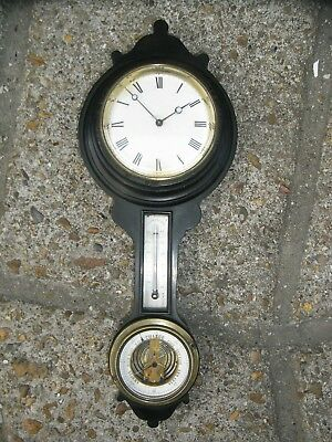 Late 19th / Early 20th Century Wall Clock / Barometer / Thermometer