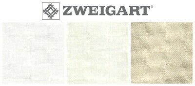 ZWEIGART 25ct LUGANA EVENWEAVE CROSS STITCH FABRIC - Various Colours / Sizes*