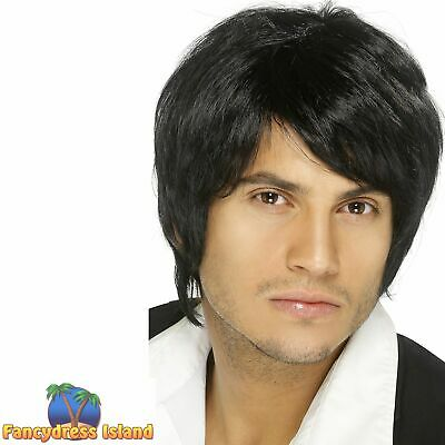 Boy Band Short 90's 80's Mark Owen Wig Adult Mens Fancy Dress Costume Accessory