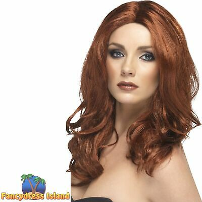 Superstar Wig 40s Long Wavy with Skin Parting Adult Women's Fancy Dress Costume