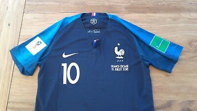 Maillot Finale 2018 France Taille L Mbappe Patchs