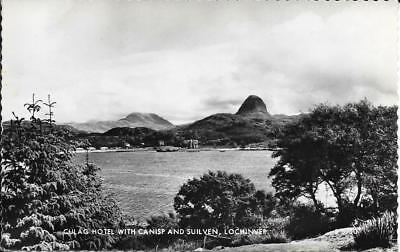 Culag Hotel with Canisp and Suilven, Lochinver-Sutherland -Posted Postcard