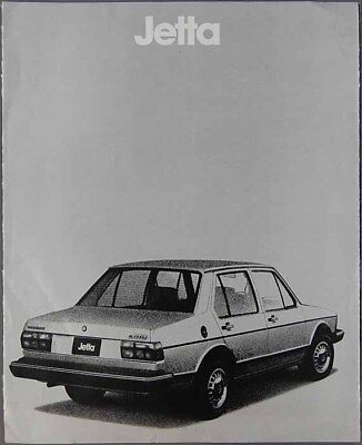 1980 VOLKSWAGEN JETTA Color Car Auto Brochure Automobile Car Sales Booklet