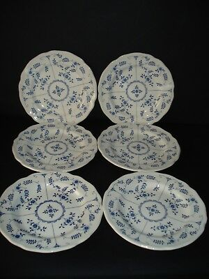 J & G Meakin Scandia Blue & White tea/side plates  *6*