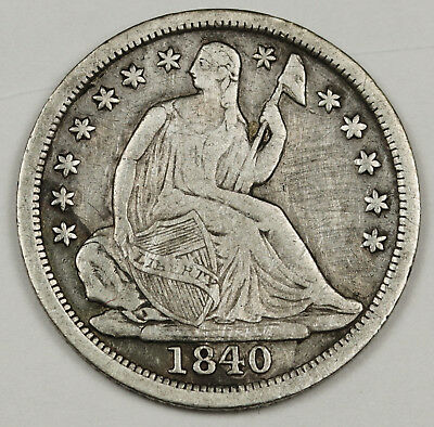 1840 Liberty Seated Half Dime.  No Drapery.  V.F.  129138