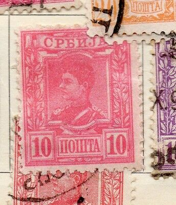 Serbia 1890 Early Issue Fine Mint Hinged 10pa. 267070