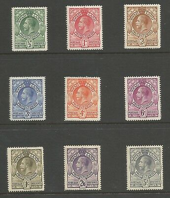 Swaziland Sg11-19 The 1933 Gv Set To 5/- Mounted Mint Cat £50+