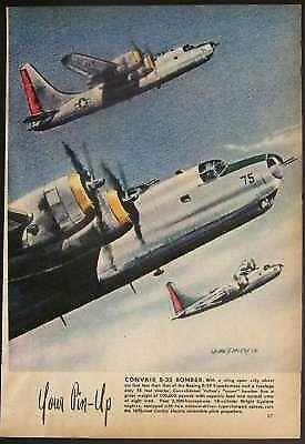Convair B-32 Super Bomber Dominator 1945 Color Pin-Up